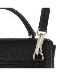 Versace Jeans Black Two Tone Strap Small Handbag Nero