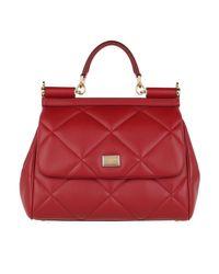 Sicily Medium Handle Bag Red Dolce & Gabbana