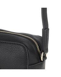 Versace Jeans Black Zip Detailed Crossbody Bag Nero