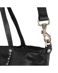 Campomaggi Black Shopping Bag Cow P/d Studs Nero