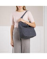 Handbag Suede Leather Ash Grey Coccinelle en coloris Gray