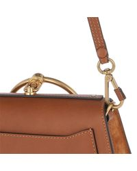 Chloé Brown Nile Bracelet Bag Caramel