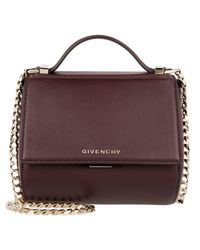 Givenchy   Purple Pandora Box Crossbody Bag Small Bordeaux   Lyst