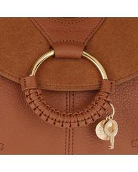See By Chloé Brown Hana Tote Bag Small Caramel