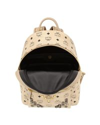 MCM - Natural Stark Small Backpack - Lyst