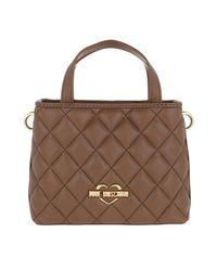 Love Moschino Brown Borsa Nappa Pu Small Handle Bag Cammello