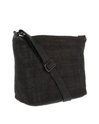 Campomaggi Multicolor Shoulder Bag Thin Woven Grigio