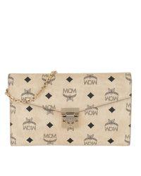 Patricia Visetos Continental Crossbody Wallet Large Beige MCM en coloris Natural
