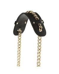 Versace Jeans Metallic Crossbody Chain Gold Nero