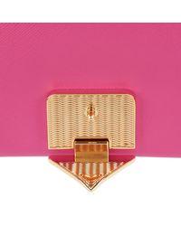 Emporio Armani Pink Tracollla Piccola Crossbody Bag Saffiano Fuxia