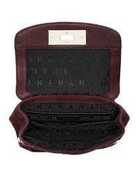 DKNY Multicolor Mini Flap Shoulder Bag Cordovan