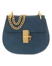 Chloé - Drew Crossbody Bag Goatskin Denim Blue - Lyst
