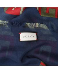 Gucci Scarf 464689 3g856 Red/blue