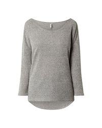 ONLY Gray Sweatshirt mit Dreiviertelärmeln Modell