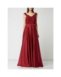 TROYDEN COLLECTION Red Abendkleid mit Glitter-Effekt