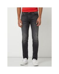 Tommy Hilfiger Slim Tapered Fit Jeans mit Stretch-Anteil Modell 'Steve' in Gray für Herren