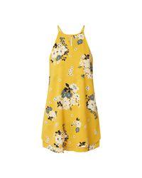 ONLY Yellow Minikleid aus Krepp im Double Layer Look