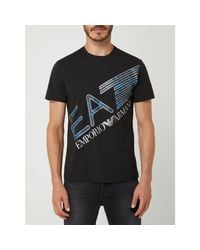 EA7 T-Shirt mit Logo-Print in Black für Herren