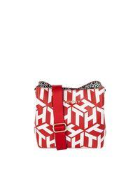 Tommy Hilfiger Red Crossbody Bag mit Logo-Muster