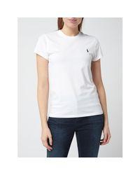 Polo Ralph Lauren White T-Shirt mit Logo-Stickerei