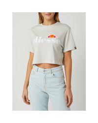 Ellesse Gray Crop Shirt aus Baumwolle Modell 'Alberta'