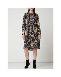 ONLY Black Blusenkleid mit floralem Muster