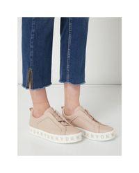 DKNY Pink Slip-On Sneaker aus Leder Modell 'Bashi'