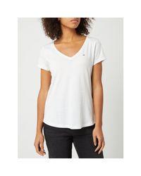 Tommy Hilfiger White T-Shirt aus Organic Cotton