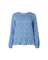 Only Carmakoma Blue PLUS SIZE - Blusenshirt aus Viskosekrepp