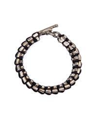 Tobias Wistisen - Metallic Full Square Bead Bracelet for Men - Lyst