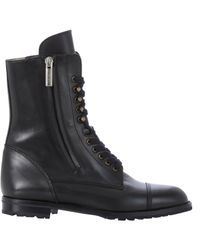 Manolo Blahnik - Black Side-zip Campcha Boots - Lyst