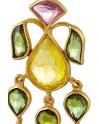Munnu - Pink 22-Karat Gold Tourmaline Earrings - Lyst