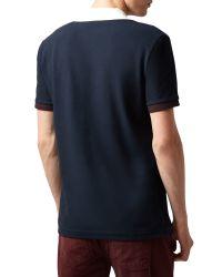 Aquascutum - Blue Timbs Plain Polo Regular Fit Polo Shirt for Men - Lyst