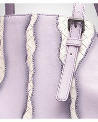 Bottega Veneta Purple Parme Fume Washed Nappa Intrecciato Glimmer Tote Bag