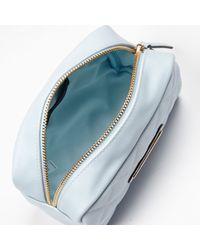 River Island Light Blue Quilted Make Up Bag