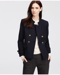 Ann Taylor Blue Double Breasted Blazer