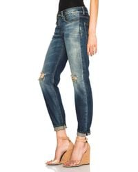 R13 Blue Relaxed Skinny