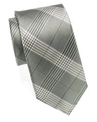 William Rast | Green Glen Plaid Silk Tie for Men | Lyst