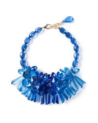 P.A.R.O.S.H. - Blue Clustered Floral Necklace - Lyst