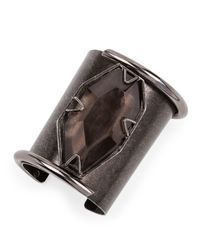 Lanvin | Brown Vertical Quartz Cuff Bracelet | Lyst