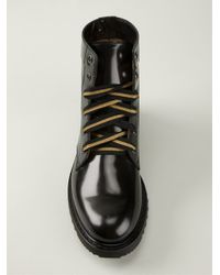 Marc Jacobs Black Lace-Up Ankle Boots for men