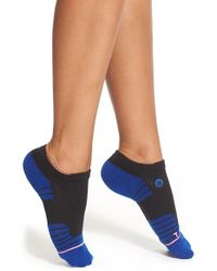 Stance - Black 'move Low - Fusion Athletic' Performance No-show Socks - Lyst