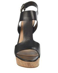 Franco Sarto | Black Gitana Leather Slingback Sandals | Lyst