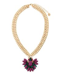 Maiocci Collection | Metallic Mauka Purple Hand Made Necklace | Lyst