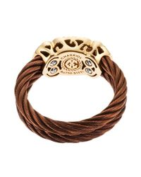 Charriol | Brown Women's Celtique Rose 18k Gold And Bronze-tone Diamond .05tcw Ring | Lyst