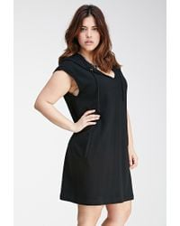 Forever 21 - Black Plus Size Hooded French Terry Dress - Lyst