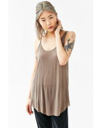 Project Social T | Brown Open-back Tank Top | Lyst