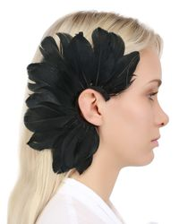 Francesco Ballestrazzi | Black Feather Mono Ear Cuff | Lyst