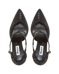 Dune Black Darcey Cross Strap Stiletto Court Shoes