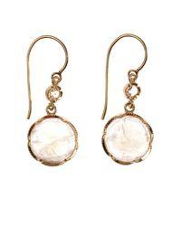 Irene Neuwirth | Metallic Diamond, Pink-Opal & Gold Earrings | Lyst